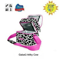 Tas penyimpanan Asi - Gabag milky cow + 2ice gel + plastik tas bening