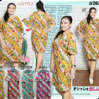 BEST SELLER BEST SELLER BAJU BIGSIZE : BAJU ATASAN DRESS BATIK MODIS J