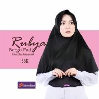 Rubya Bergo Pad Hitam / Hijab Instan Terbaru / Nibras Hijab