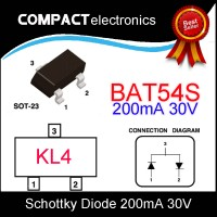 BAT54S KL4 DIODE SCHOTTKY 30V DIODA BAT54 KL1 L44 L41 SOT23