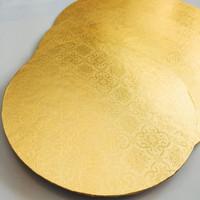 Alas Kue Emas 22 CM Motif (Tatakan Kue Gold)