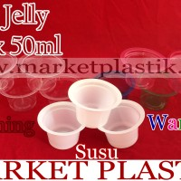 Cup Jelly Giok/Cup Puding/Cup Es Krim/Cup Plastik 50ml
