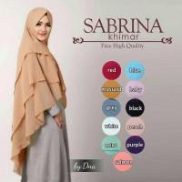 Jual jilbab Khimar Sabrina Premium /Sabrina 3 layer Sabrina Pet mumer murah Murah
