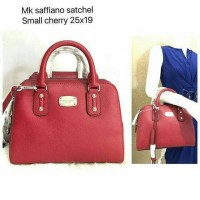 Restock. Michael Kors Saffiano Satchel Small Cherry NwT Original