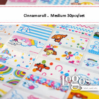 Cinnamoroll Sticker MEDIUM Name Label. Stiker karakter Sanrio cinnamon