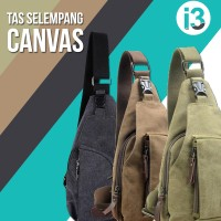 Jual Tas Selempang Pria Kanvas / Sling Bag / Slempang Bodypack Canvas Murah