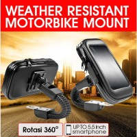 Holder Spion Sepeda Motor Waterproof Bracket HP GPS Handphone Anti air