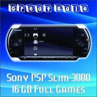 harga Sony Psp Wifi Slim 3000 + 16 Gb Memory Card Full Games - Hitam Tokopedia.com