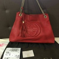Tas Gucci Soho Large Red Ghw Won