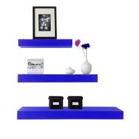 Ambalan / Rak Dinding / Rak Buku Minimalis 3 Pcs 40-30-20 cm - Biru