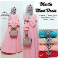 baju muslim wanita gamis maxi maxy lengan panjang - merila long dress