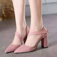 harga Sepatu Heels|high Heels Gelang Back Stud Tb-do Salem Tokopedia.com