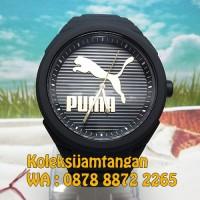 JAM TANGAN PUMA PU103592016 GUMMY CAT-BLACK GOLD ORIGINAL
