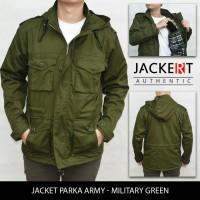 Jaket Parka Drill - Hijau / Green Army (JACKERT ORIGINAL)