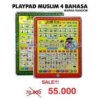Jual Playpad Muslim 4 Bahasa: Arab,Inggris,Ind,Mand | Mainan Edukasi Anak Murah