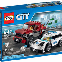 LEGO City # 60128 Police Pursuit Thief Safe Box Super Car Busy Race