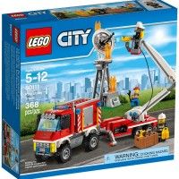 LEGO City # 60111 Fire Utility Truck TV Station on Air Satellite Tower