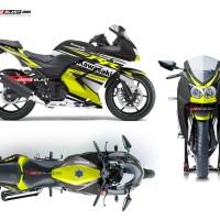 Decal Stiker Ninja 250R Karbu Yellow RC (READY CUTING)
