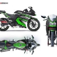 Decal stiker Ninja 250R Karbu Green RC