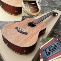 Gitar junior cowboy akustik elektrik eq7545R