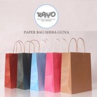 PAPER BAG WARNA Kantong karton polos, kantong kotak souvenir KAYO