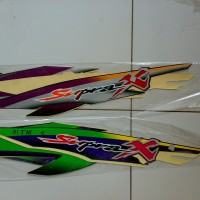 striping sticker lis honda supra x 2001