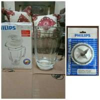 Gelas kaca blender philips hr 2061/2071/2115/2116 + pisau