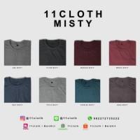 Jual (SIZE M) Kaos Polos Misty - Cotton Combed 30S 100% Murah