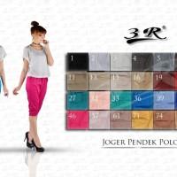 Celana 3R - Sporty jogger pendek katun casual wanita big size ready