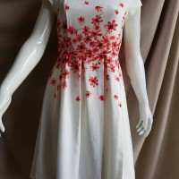 Red Floral Dress by Minimal