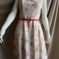 Pink Floral Dress - Minimal
