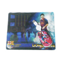 Mouse + Mousepad Gambar Lionel Messi Barcelona Combo Bola