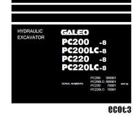 Komatsu PC200-8, PC200LC-8, PC220-8, PC220LC-8
