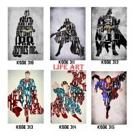 Jual Wood Frame Poster 20x30 Wall Decor - Superhero Series Murah