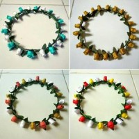 Flower crown :Mahkota bunga SINGLE 2 Berkualitas