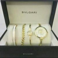 Jam Tangan Wanita Bvlgari plus Paket Gelang Mewah
