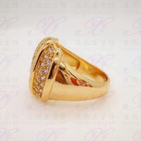 Jual HOT SALE Cincin emas Labu permata Perhiasan imitasi Gold 18k Yaxiya Je Murah