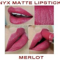 nyx matte lipstick merlot