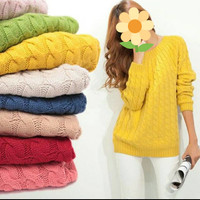 Sweater rajut import/sweater wanita/sweater korea