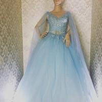 baby blue gown/ wedding gown/ prewedding gown/ gaun prewedding