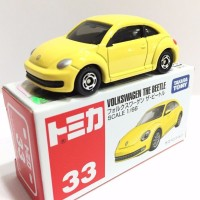 33 VW Volkswagen the beetle yellow Tomica