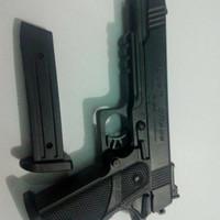 Mainan Spring Hi-capa Tembak-tembakan Hicapa 4-1 R-189 ASG BB6mm Pelor
