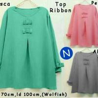51450/top Ribbon/baju Tunik Murah/atasan Muslim Wanita Murah