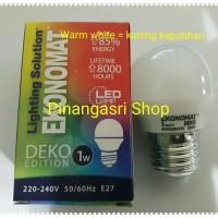 Jual LED Ekonomat 1 watt WARM WHITE 1w / 1 w Bulb LED 1watt Lampu Tidur Murah