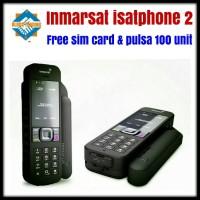 Telepon satelit INMARSAT Isatphone2 plus perdana pulsa 100 unit