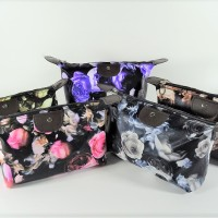 (Bunga Rose dan Batik) Pouch Tas Kosmetik Bag Make Up Body Lotion