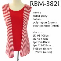 BLOUSE CARDIGAN 2 IN 1 FADED GLORY BIGSIZE JUMBO RBM-3821 (PILIH SIZE)
