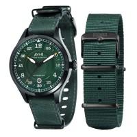 AVI-8 Hawker Hurricane Watch Green Dial Green Leather AV-4046-04
