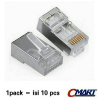 RJ45 Connector Metal Konektor 10 pcs/pack - ACC-RJ45-MTL
