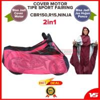 Cover/Sarung/Selimut Motor 2in1 Tipe Sport Fairing: CBR,Ninja,R15,R25